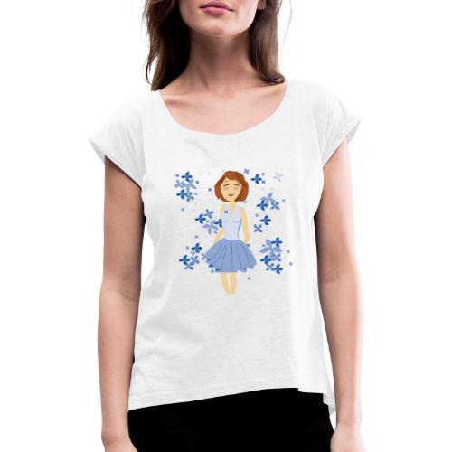 Bloemenmeisje - T-shirt à manches retroussées Femme