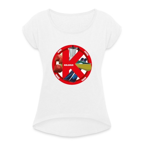 logoforeskil - Women's T-Shirt with rolled up sleeves