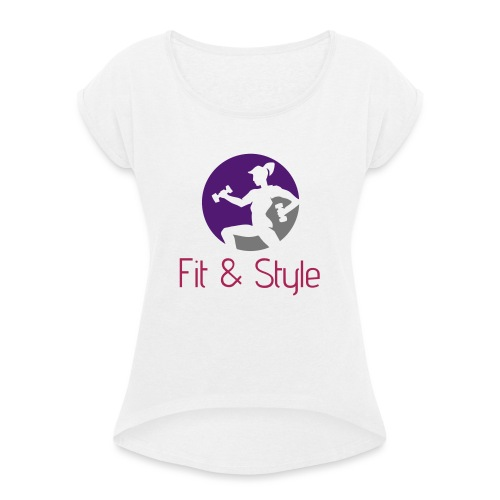 Fit & Style shirt - Vrouwen T-shirt met opgerolde mouwen