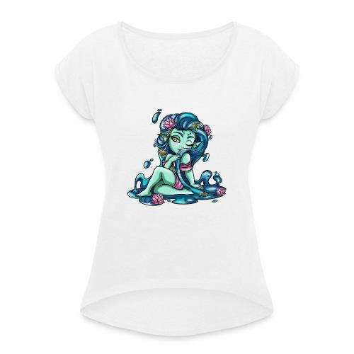 Zodiac Sign : Fish - T-shirt à manches retroussées Femme