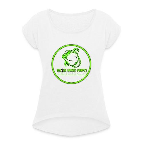 sans titre2 - T-shirt à manches retroussées Femme