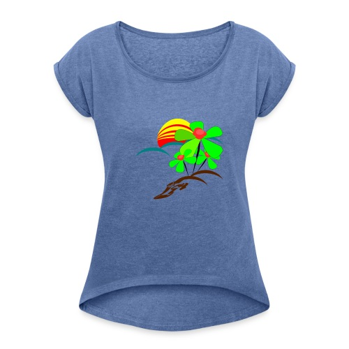 Berry - Women's T-Shirt with rolled up sleeves