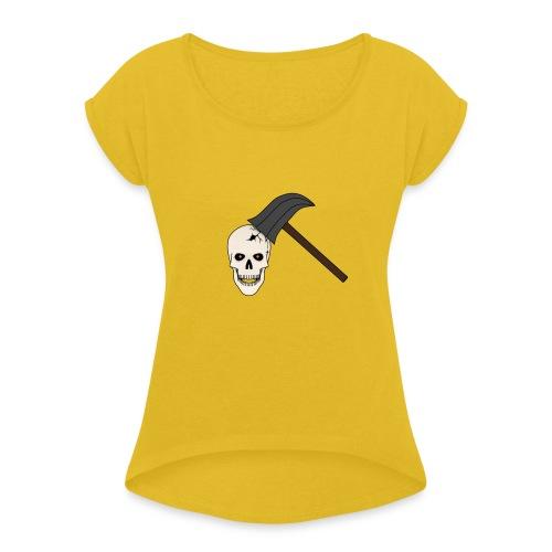 Skullcrusher - Frauen T-Shirt mit gerollten Ärmeln