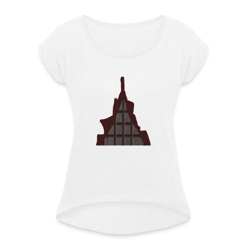 Vraiment, tablette de chocolat ! - T-shirt à manches retroussées Femme