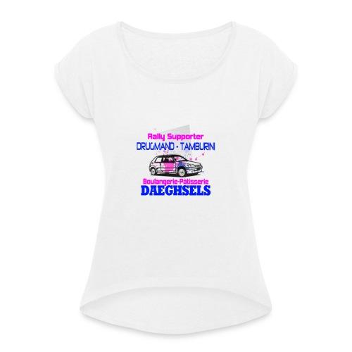 drugmand_tamburini_logo-png - T-shirt à manches retroussées Femme