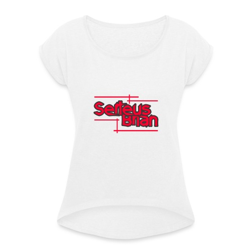 Baseball T-shirt RED - Vrouwen T-shirt met opgerolde mouwen