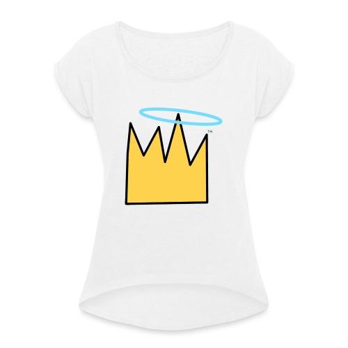 Crown Halo baby's - Vrouwen T-shirt met opgerolde mouwen