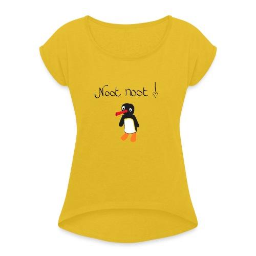 NOOWT NOOWT - Vrouwen T-shirt met opgerolde mouwen