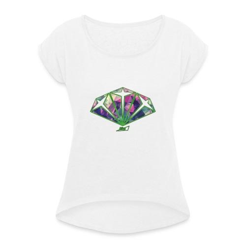 diamond - Maglietta da donna con risvolti