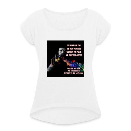 12802971_538131549697932_2488736382227601379_n - T-skjorte med rulleermer for kvinner