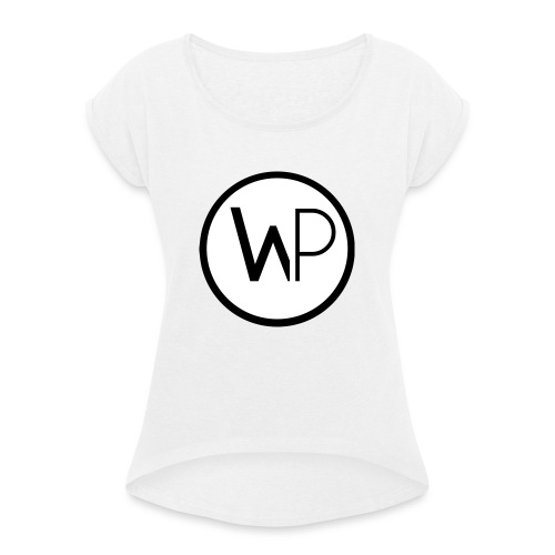 Large Logo - Women's T-Shirt with rolled up sleeves