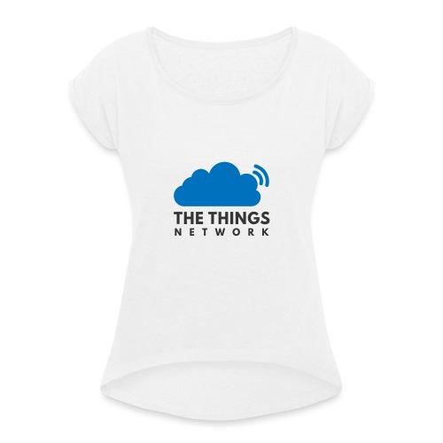 The Things Network - Vrouwen T-shirt met opgerolde mouwen