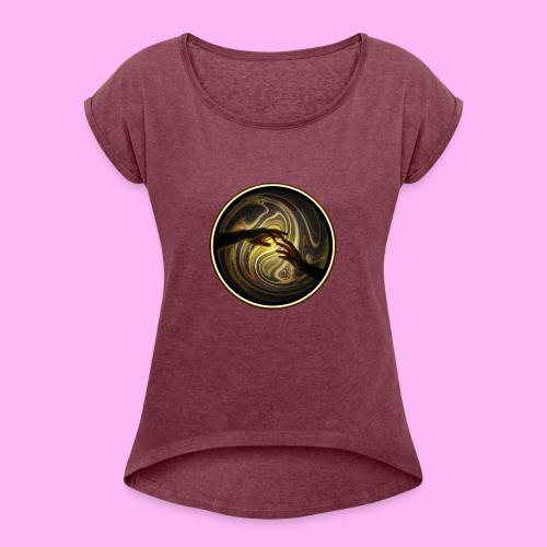 Reach out and touch faith - Naisten T-paita, jossa rullatut hihat