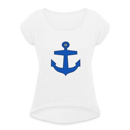 BLUE ANCHOR CLOTHES - Women's T-Shirt with rolled up sleeves
