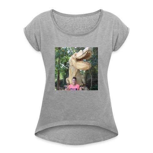 13754697 10209017856016391 4435811130297670438 n - Dame T-shirt med rulleærmer