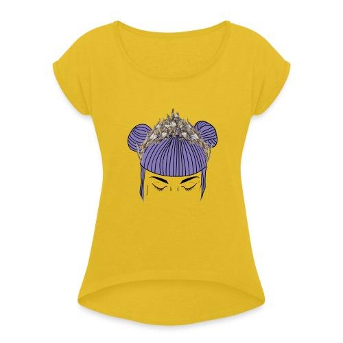 Queen girl - Camiseta con manga enrollada mujer