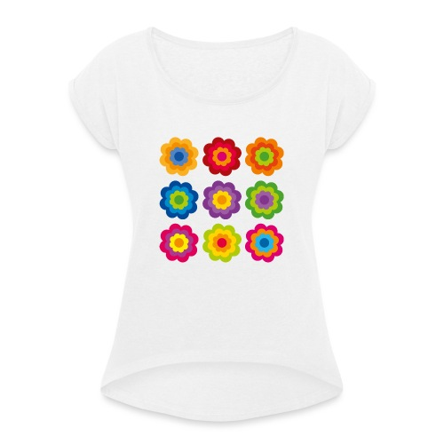 limited edition 04 - Frauen T-Shirt mit gerollten Ärmeln