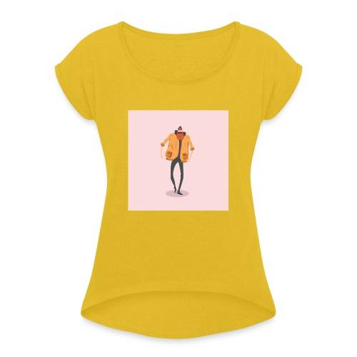 i like you - T-shirt à manches retroussées Femme