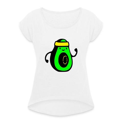 aguacate ninja - Camiseta con manga enrollada mujer