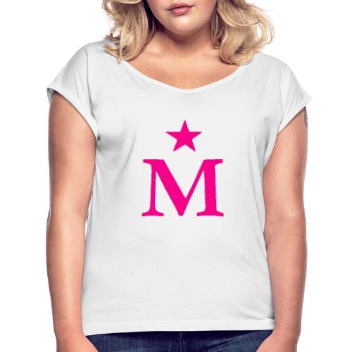 M de Moderdonia rosa - Camiseta con manga enrollada mujer