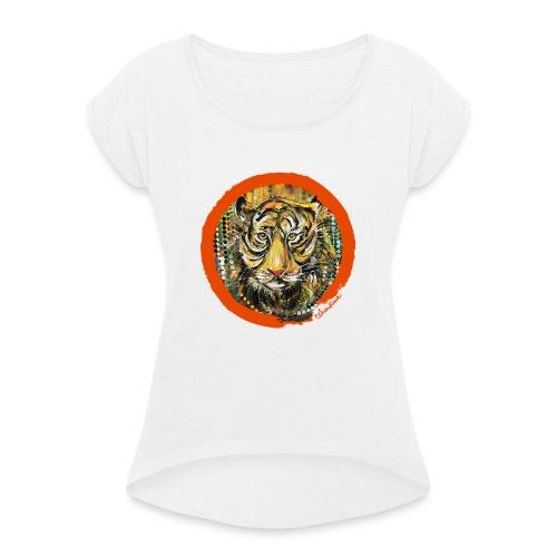 choukair model - T-shirt à manches retroussées Femme