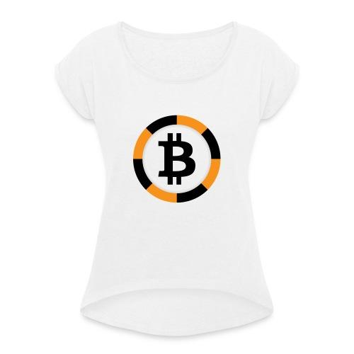 Bitcoin Poker - Camiseta con manga enrollada mujer