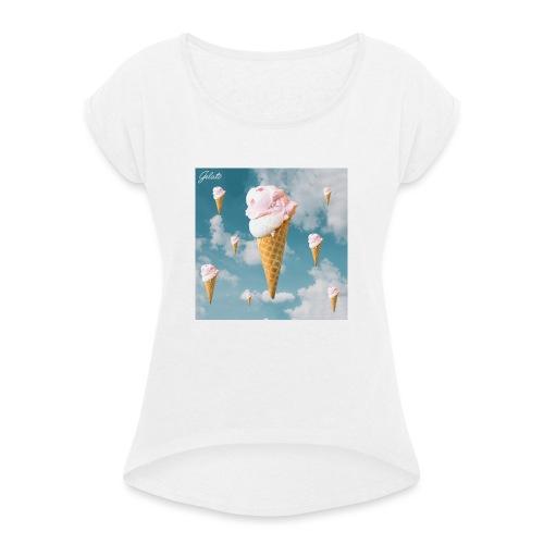 Gelato EP Cover - Frauen T-Shirt mit gerollten Ärmeln
