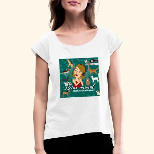 reino animal 01 - Camiseta con manga enrollada mujer