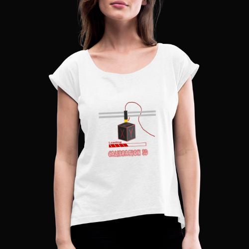 calibration - T-shirt à manches retroussées Femme