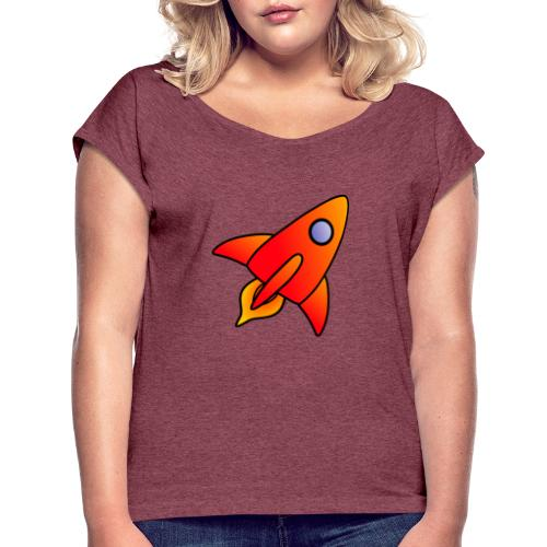 Red Rocket - Women's T-Shirt with rolled up sleeves
