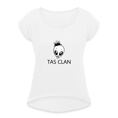 TAS Clan Maskottchen - Frauen T-Shirt mit gerollten Ärmeln