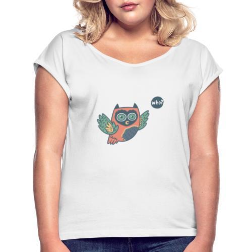 Portfolio w3 - Frauen T-Shirt mit gerollten Ärmeln