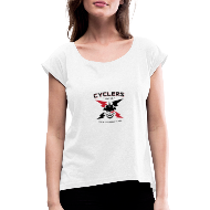 Cyclersunite CRF - Women's T-Shirt with rolled up sleeves