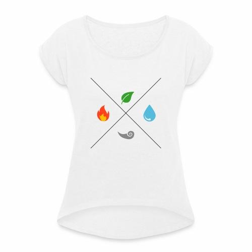 Les 4 éléments - T-shirt à manches retroussées Femme