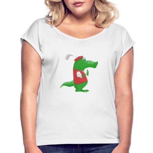 crocodile 614386 1920 - Camiseta con manga enrollada mujer