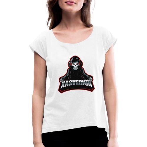 Xasverion - Vrouwen T-shirt met opgerolde mouwen