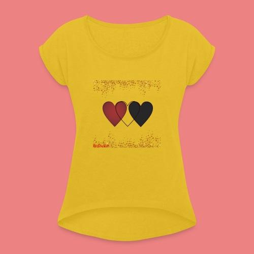 mood creativo - Maglietta da donna con risvolti