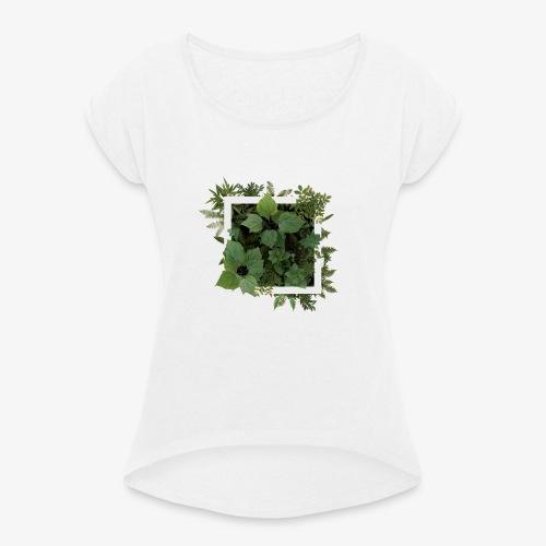 GeometricNature - Frauen T-Shirt mit gerollten Ärmeln