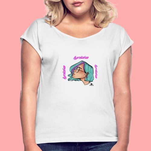 Lynioka Purple Up - T-shirt à manches retroussées Femme