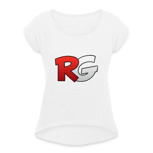 jongens shirt met een (v half) - Vrouwen T-shirt met opgerolde mouwen
