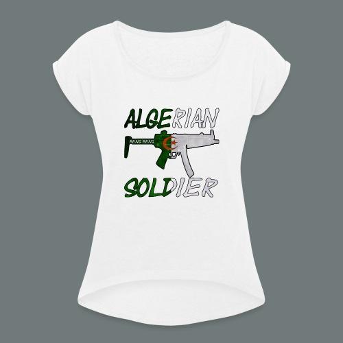 Algerian Soldier Trui (Heren) - Vrouwen T-shirt met opgerolde mouwen