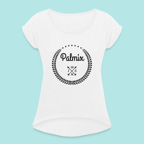 Palmix_wish V-neck - Women's T-Shirt with rolled up sleeves