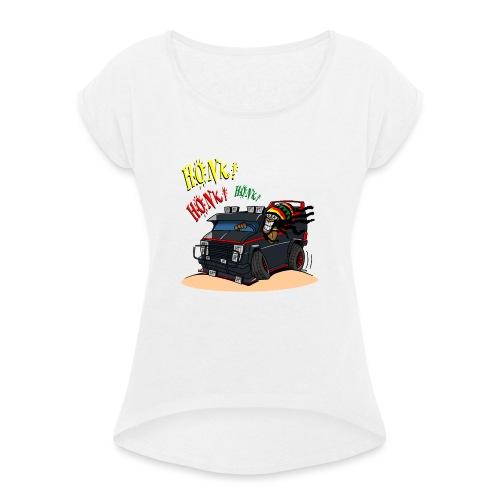 0779 BA RASTA VAN - Vrouwen T-shirt met opgerolde mouwen