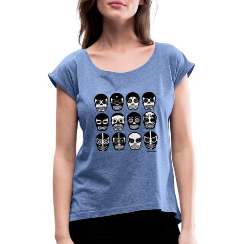 Hacienda lucha - Frauen T-Shirt mit gerollten Ärmeln