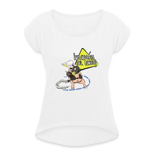 Roadhog Overwatch - No salgáis del punto - Camiseta con manga enrollada mujer