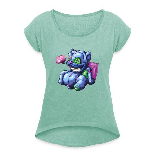 Hug me - Camiseta con manga enrollada mujer