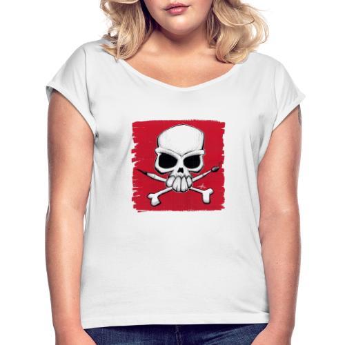schädel2020 - Frauen T-Shirt mit gerollten Ärmeln