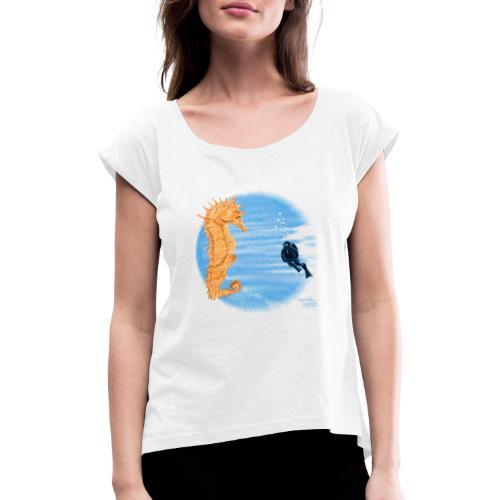 hippocampe - T-shirt à manches retroussées Femme