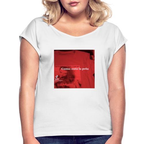 FDCC5037 D1BB 4689 A11A 6D6091F33487 - Camiseta con manga enrollada mujer