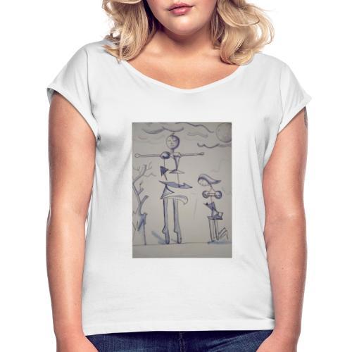 Preghiera - Maglietta da donna con risvolti